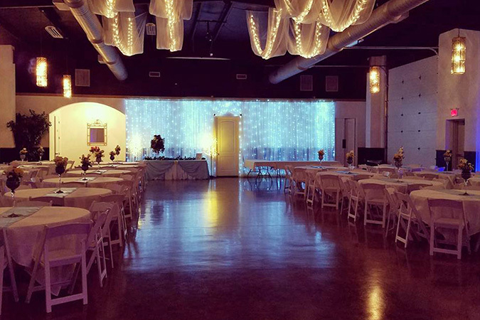 Timeless events venue lights