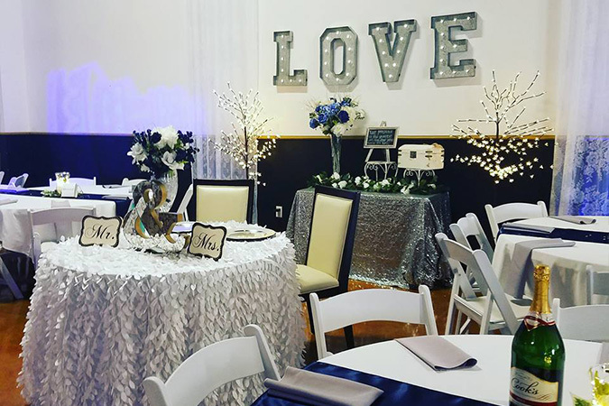 Timeless events decorated venue