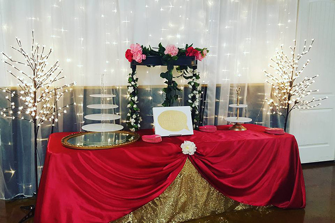 Timeless events cake table