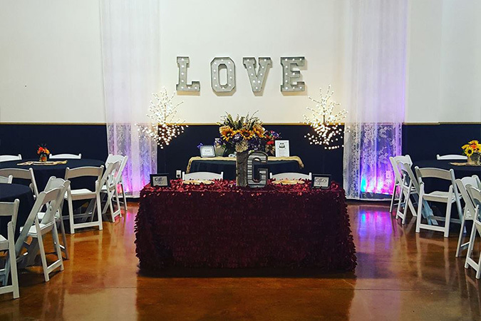 Timeless events love bride and groom table