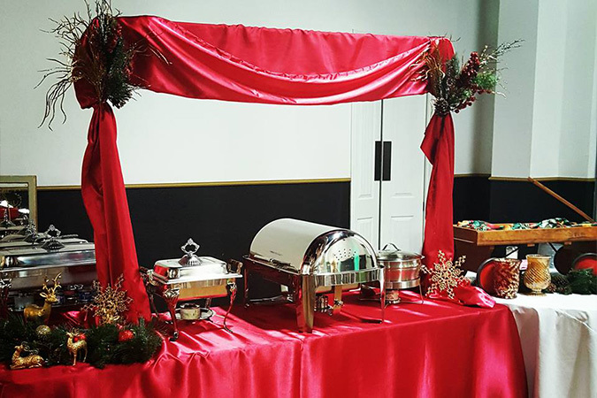 Timeless events buffet table