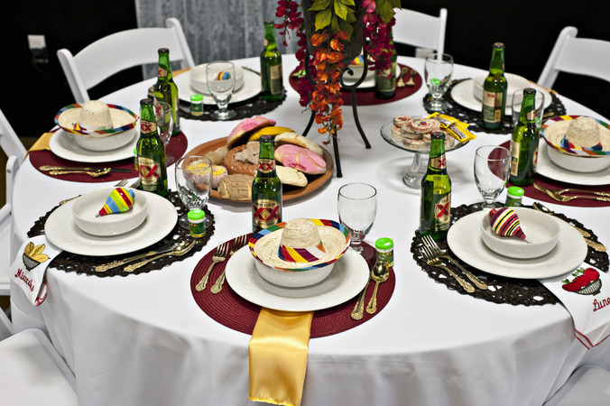 Timeless events fiesta place settings