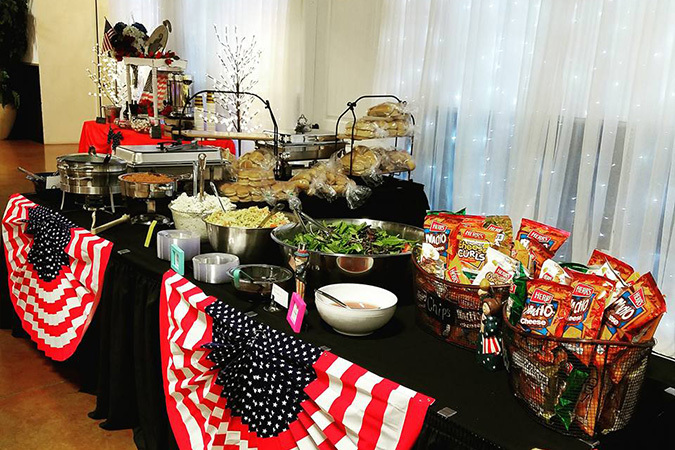 Timeless events patriotic buffet table